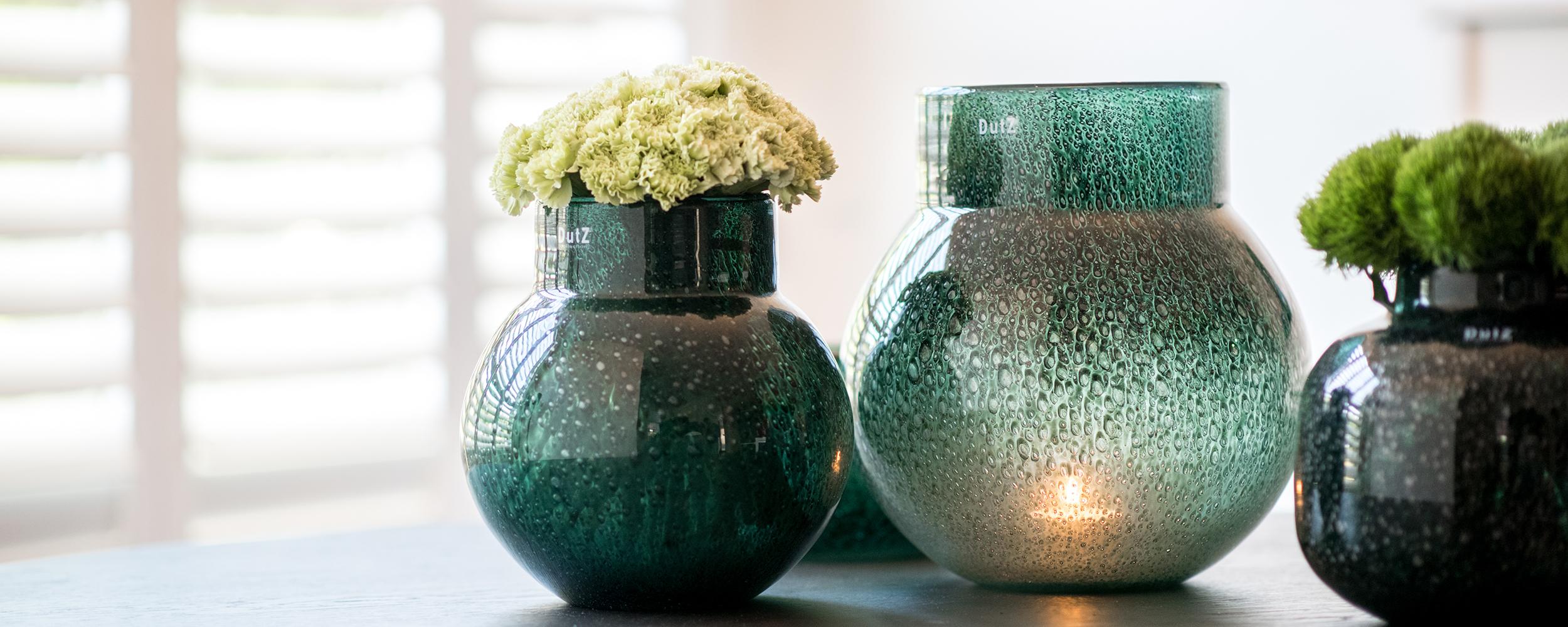 Glazen vazen die wat zeggen over DutZ collection