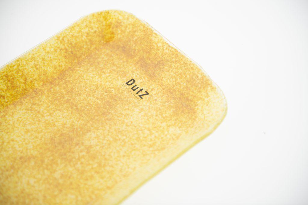 Rechthoekige plate in de kleur gold
